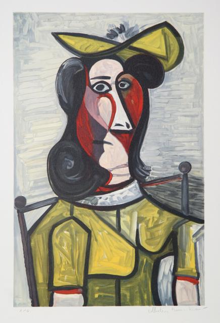 Pablo Picasso, 'Portrait de Femme au Chapeau et la Robe Vert Jaune, 1943', 1979-1982, RoGallery