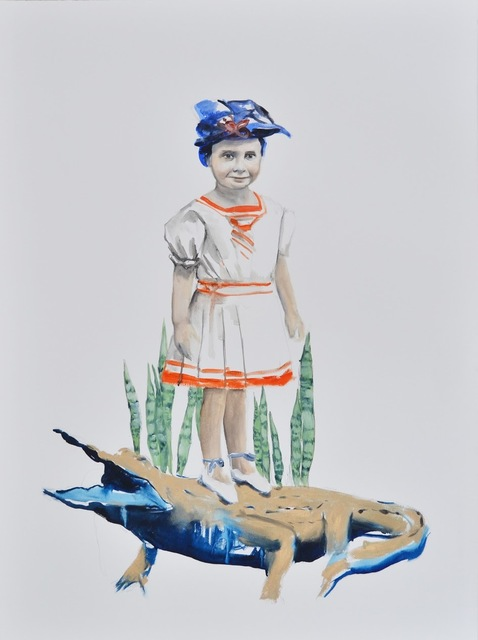 , 'Gold crocodile,' 2014, Anna Laudel