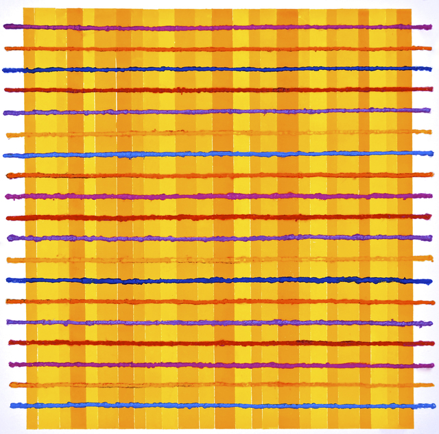 , 'Colour Grid on Yellow,' , Dreipunkt Edition