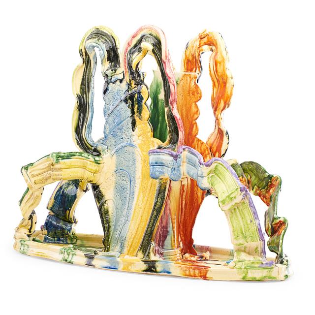 "Betty Woodman, 'Exceptional large sculpture, ""Shadowy Napkin Holder""', 1984, Rago"
