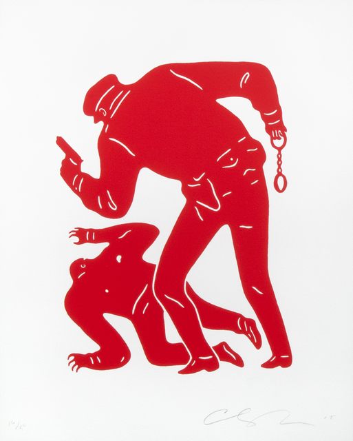 Cleon Peterson, 'Police Shooting (Red)', 2015, Julien's Auctions