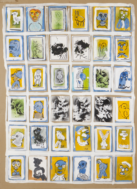 "Hans Krüsi, '""Bilder aus dem alltag""', Drawing, Collage or other Work on Paper, Mixed media on paper laid on cardboard, Veritas"