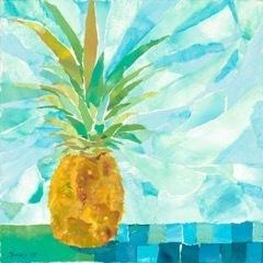 , 'Blue Pineapple Squares,' 2019, Tiffany's Art Agency