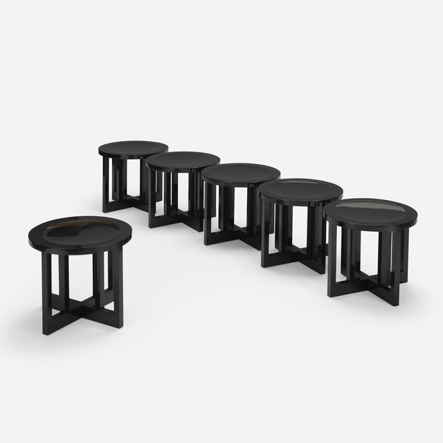 Richard Meier, 'Low Stools model 820Y, set of six', 1982, Wright