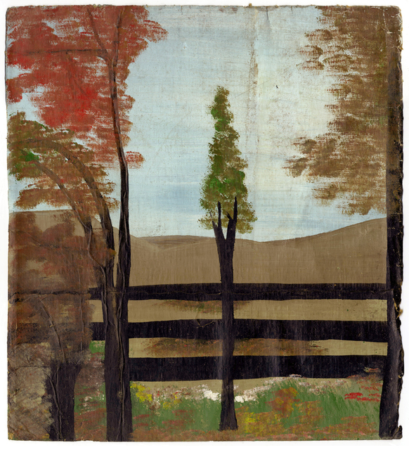 , 'Four Trees and Fence,' , Ingleby Gallery