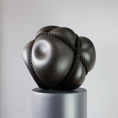 Stephan Marienfeld, 'Bondage Bronze Blow-in', 2021, Sculpture, Black patinated Bronze with rope, Galerie Kellermann