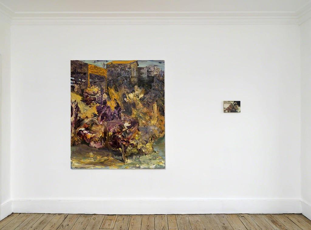 'Dark Smoke' installation view, works by Dan Maciuca and Dan Beudean