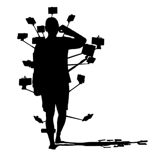 , 'Selfie-Man Silhouette,' 2019, Kantor Gallery