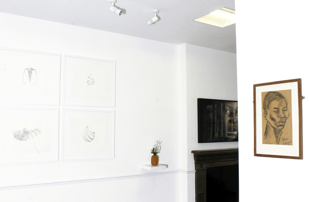 Installation shot - Works by Temitayo Ogunbiyi & Ben Enwonwu MBE