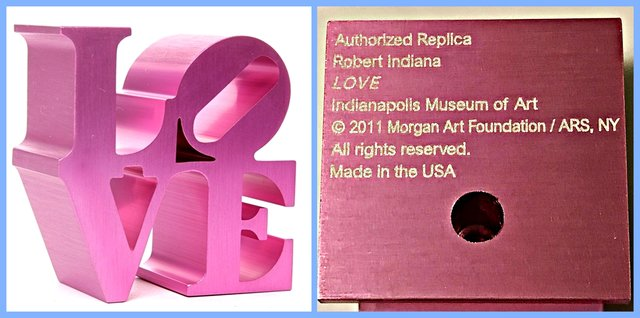 , 'LOVE  (Artist Authorized, with Incised Indianapolis Museum of Art & Morgan Foundation Stamp and Artist Copyright),' 2011, Alpha 137 Gallery