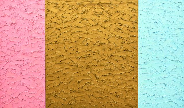 , 'Icon 66 x 111 flesh/gold/sky blue,' 1988, Galerie Hans Mayer