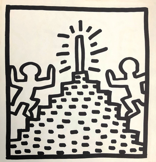 Keith Haring, 'Keith Haring (untitled) Pyramid lithograph 1982', 1982, Lot 180