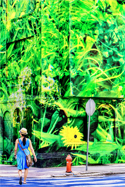 Mitchell Funk, 'Street Art Mural with Single Female Figure. New York City', 2018, Robert Funk Fine Art
