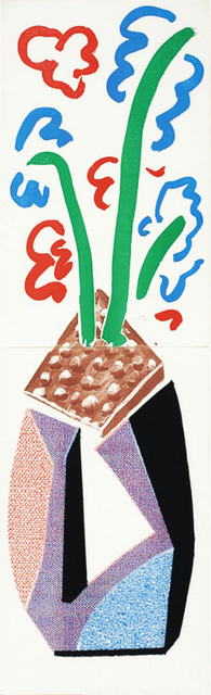 David Hockney, 'Red, Blue & Green Flowers, July 1986 ', 1986, Print, Homemade Print (Diptych) on Arches laid text paper, Kenneth A. Friedman & Co.