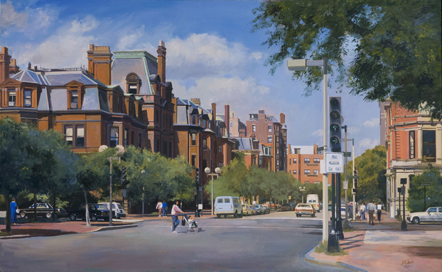 , 'Dartmouth Street and Commonwealth Avenue, Boston, MA,' 1986, Vose Galleries