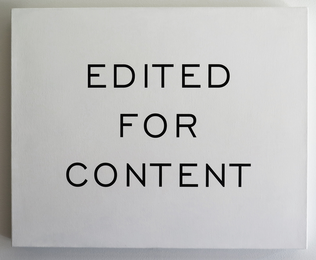 , 'Edited for Content,' 2003-2007, Resource Art