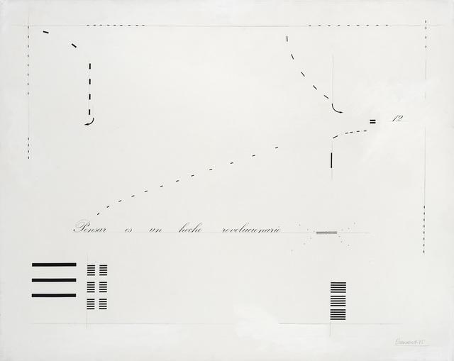 Marie Orensanz, 'Pensar es un hecho revolucionario', 1975, Alejandra von Hartz Gallery