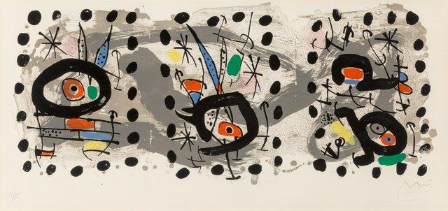 Joan Miró, 'Solar Bird, Lunar Bird, Sparks', 1967, Heritage Auctions