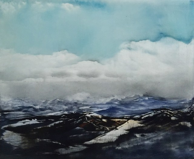 , 'MOUNTAINS I,' , saltfineart