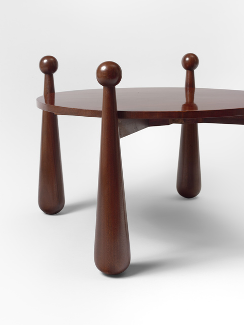", '""Quille"" occasional table,' ca. 1960, Galerie Jacques Lacoste"