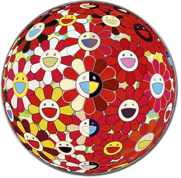 Takashi Murakami, 'Flowerball Red (3d) The Magic Flute', 2010, Gallery Delaive