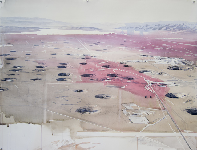 , 'Yucca Flat with Blood Red Brushstrokes,' 2016, Elizabeth Houston Gallery