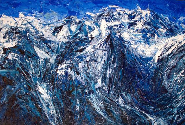 , 'Rock Slubs On The Gulch Face Of La Perouse And Aoraki: Mt Cook,' 2017, Rebecca Hossack Art Gallery