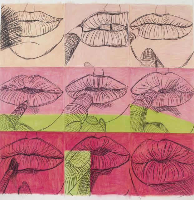 , 'Crystal pink lip drawing ,' 2017, GNYP Gallery
