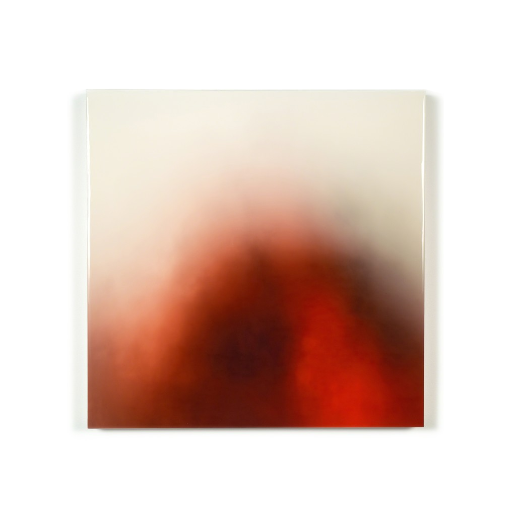 """Timothy Schmitz """"Ethereal #060717SRC"""" 23.5"""" x 23.5""""Multipass UltraChrome pigment inkjet, resin, on stained and coated cotton rag, mounted on KomaCell on floating panel"""