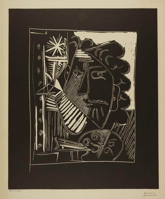 Pablo Picasso, 'Peintre et sa toile (Le Peintre à la palette) (B. 1153; Ba. 1342)', 1963, Print, Linoleum cut, Sotheby's
