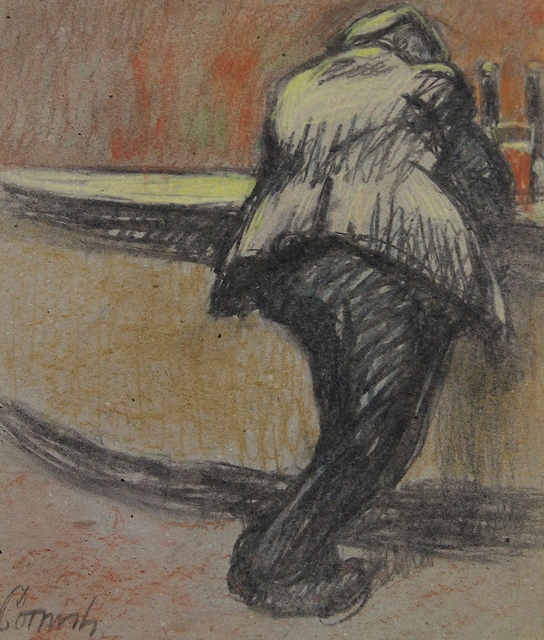 , 'Man at bar iv,' ca. 1970, Castlegate House Gallery