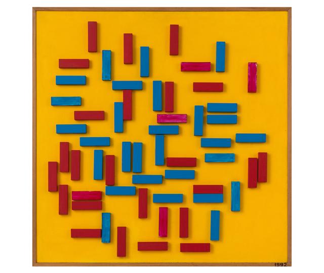 Abdulio Giudici, 'Sin título', 1992, Painting, Acrílico y láminas metalizadas sobre hardboard y madera, Herlitzka + Faria