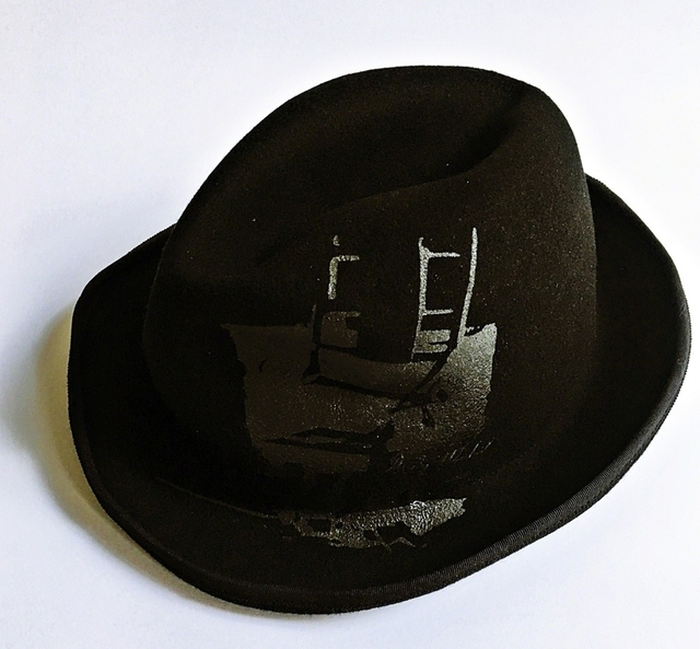 Andy Warhol, 'Andy Warhol Wool Hat From the Estate of Tim Hunt (former curator and sales agent for the Warhol Foundation) and his wife, bestselling author Tama Janowitz.', ca. 2010, Fashion Design and Wearable Art, 100% wool hat. made in japan., Alpha 137 Gallery Gallery Auction
