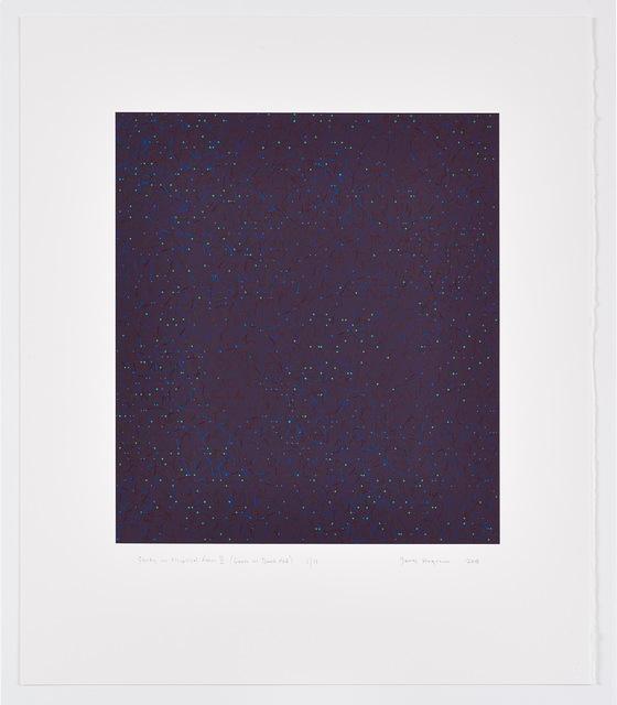 James Hugonin, 'study in elliptical form II (green on dark red)', 2018, Edition & Galerie Hoffmann