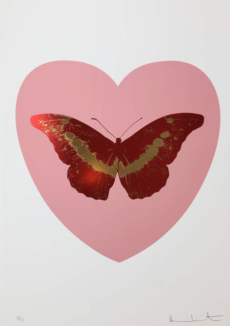 Damien Hirst, 'I Love You - Pink/Poppy Red/Cool Gold', 2015, Hamilton-Selway Fine Art