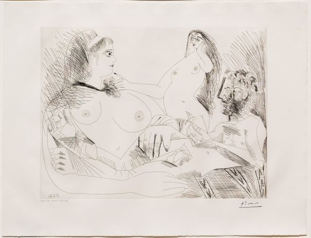 Pablo Picasso, 'Belle Jeune Femme a sa Toilette Revant..., from the 156 Series', 1971, Leslie Sacks Gallery