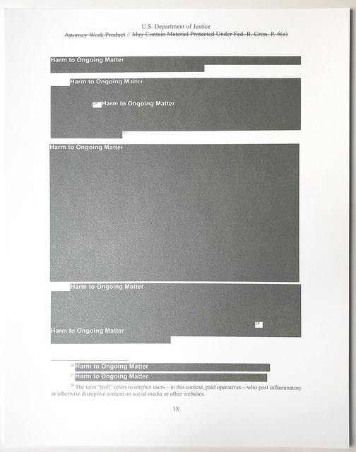 Jenny Holzer, 'Harm to Ongoing Matter', 2019, Joseph K. Levene Fine Art, Ltd.