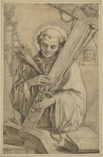Abraham Bloemaert, 'Saint Bernard of Clairvaux with the Instruments of the Passion', National Gallery of Art, Washington, D.C.