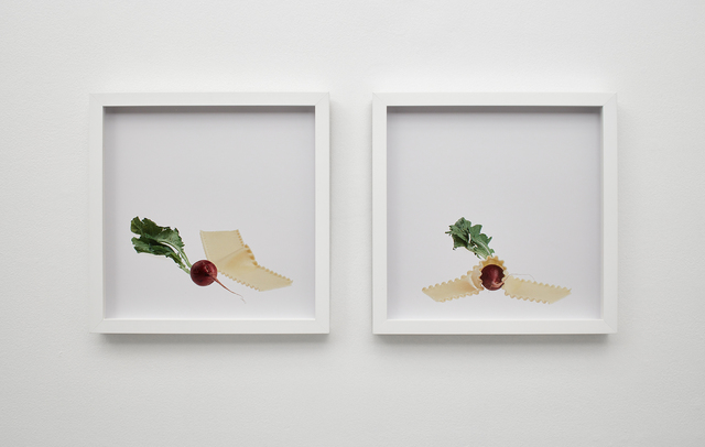 , 'radish and noodle, noodle smothers radish,' 2015, Klowden Mann