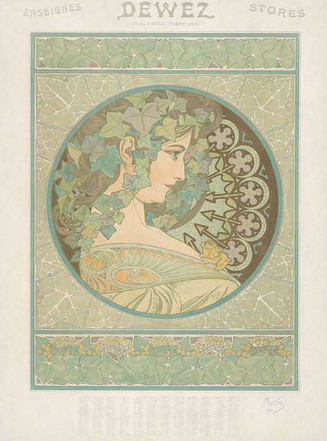 Alphonse Mucha, 'Ivy / Dewez.', 1908, Rennert's Gallery
