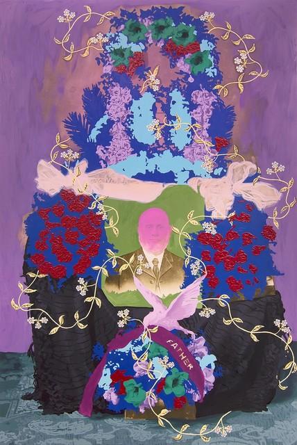 , 'Untitled (Remembrance of A. Asbjoruson Sr. Mr. + Mrs. Q.K. Olson),' 2018, k contemporary