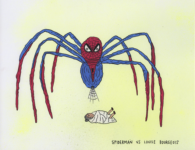 , 'Spiderman vs Louise Bourgeois,' 2017, MARTINA'S GALLERY