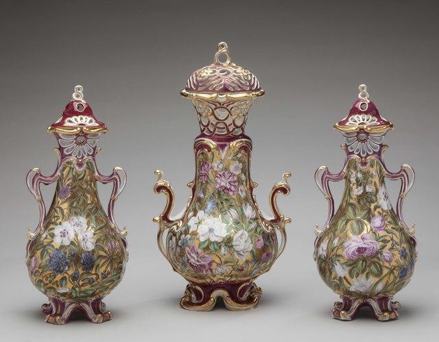 , 'Three-piece garniture,' ca. 1760, Michele Beiny Inc.