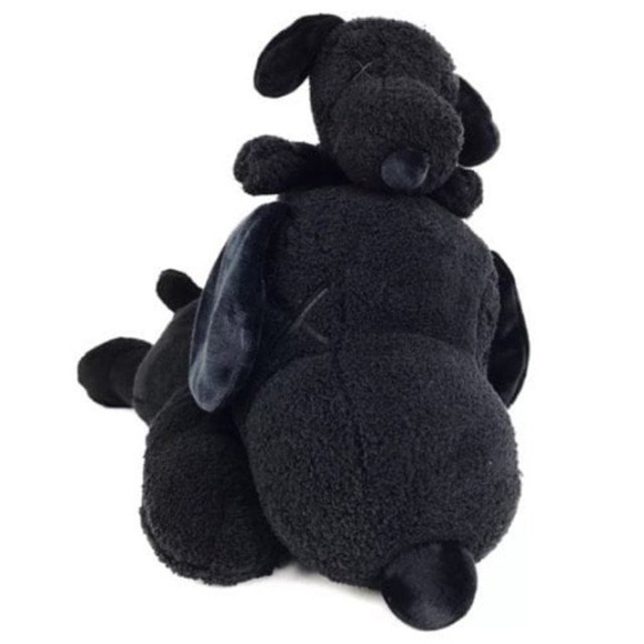 KAWS, 'KAWS x Peanuts Black Snoopy Uniqlo Plush Toy (Black) (Set of 2)', 2017, Design/Decorative Art, Polyester, Curator Style