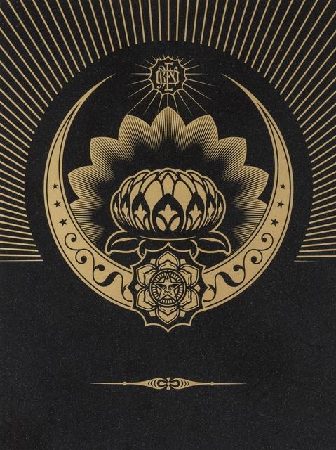 Shepard Fairey (OBEY), 'Obey Lotus Crescent (Black & Gold)', 2013, Forum Auctions