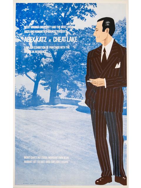 Alex Katz, 'Alex Katz at Cheat Lake Poster', 1969, Brooke Alexander, Inc.