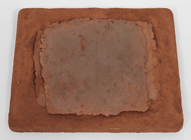 Michelle Stuart, 'Project for a Chart of the Earth Reflecting the Sky', 1983, Mixed Media, Earth from Zagora, Moroco, plaster, handmade paper, Galerie Lelong & Co.