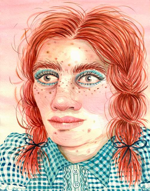 , 'Button'd Blue Young Woman,' 2016, Asya Geisberg Gallery