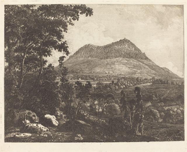 Christoph Nathe, 'Landeskrone Mountain near Görlitz', ca. 1795, Print, Etching on wove paper, National Gallery of Art, Washington, D.C.