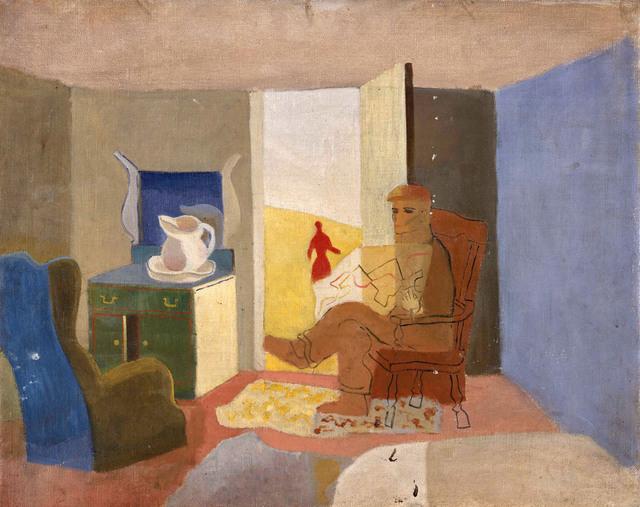 , 'In The Cabin Indian Harbor,' 1938, Pera Museum